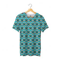 Tee shirt bachi carré bleu