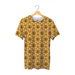 Tee shirt bachi rond ocre