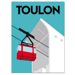 Cable car station - poster