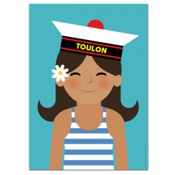 Marine girl - poster