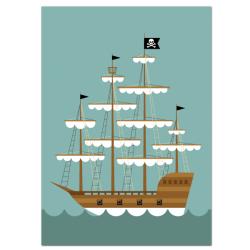 Bateau pirate - affiche