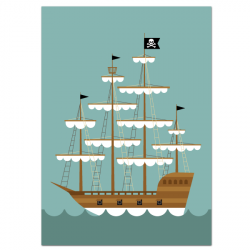 Pirate boat - poster