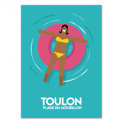 swimmer with buoy - poster