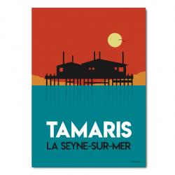 Tamaris sunset - poster