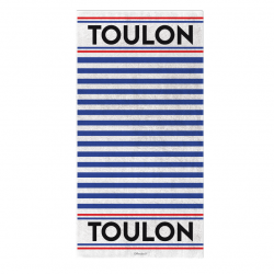 Towel deep blue lines