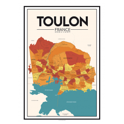 city map N°1- poster