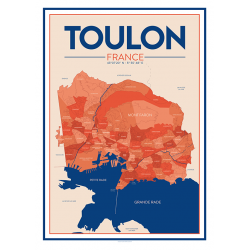 city map N°2 - poster
