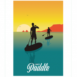Summer Paddle - poster