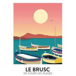 Le Brusc sunset - poster