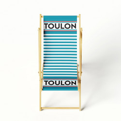 Lounge chair blue stripes