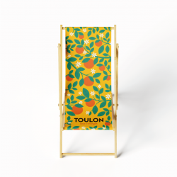 Lounge chair orange tree