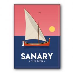 Sanary sunset - magnet