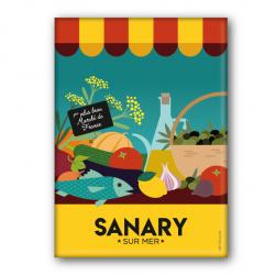 Sanary marché - magnet